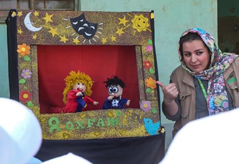 teatro-lavarse-manos-irak-oxfam